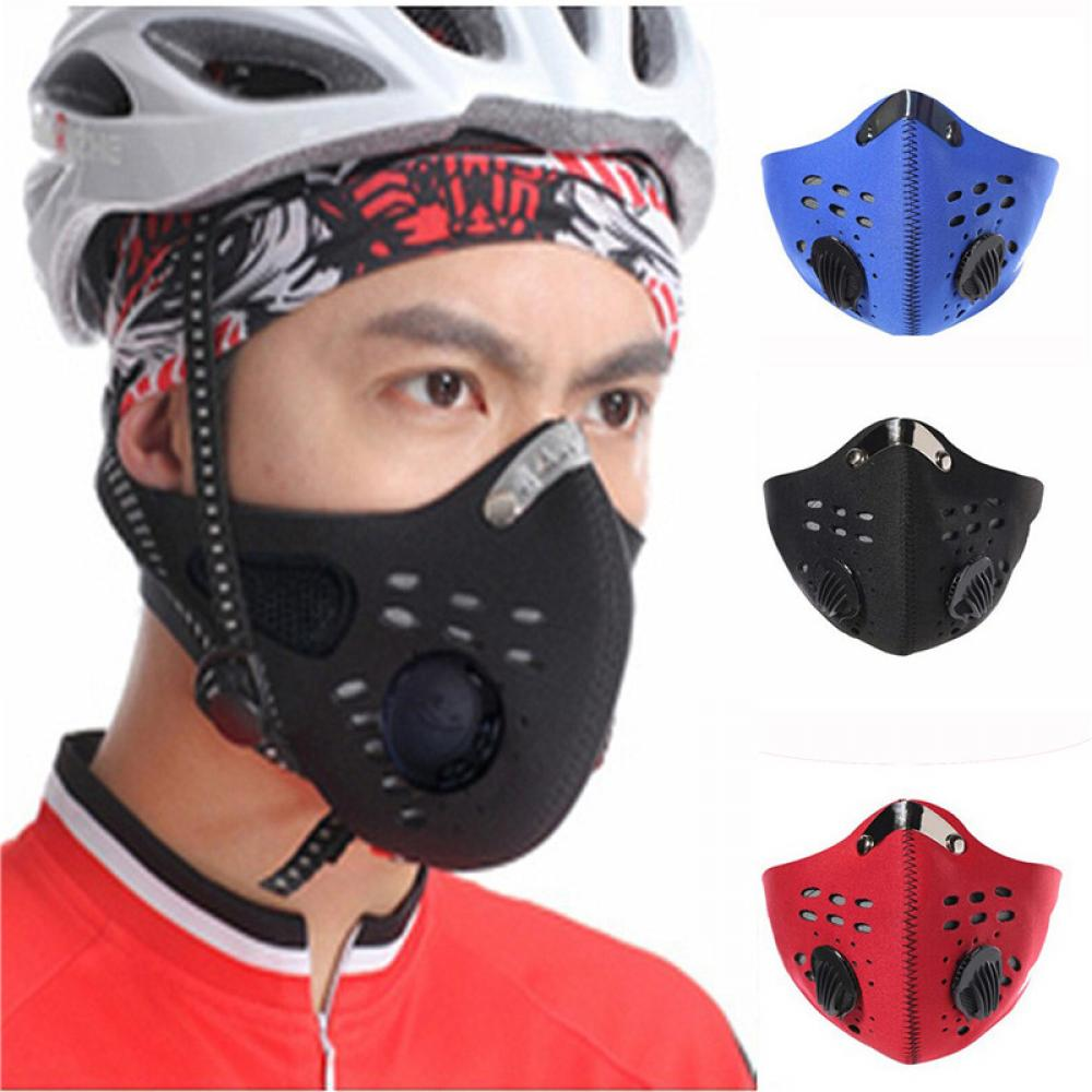 PM2.5 Outdoor Riding Mask Gas Filter Protection Face Dustproof Anti-pollution Mask Head Respirator Motor Bike Sport Mouth-muffle
