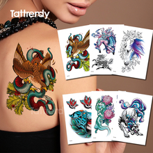 temporary tattoos for girls tattoo snake animals horse tiger sexy remover tatoo fake watercolor back to cover scars