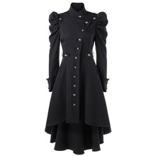 Spring 2020 Women Trench Coat Britain Fashion Blac