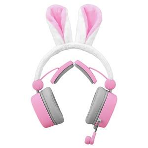 S21 Headphones Pink Cute Girl Bunny Ears Headset Noise Reduction Game Listening Song Headphones