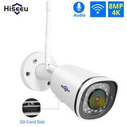 Hiseeu 4K беспроводная Wi-Fi камера слот для sd-карты Открытый водонепроницаемый 8MP 5MP 4MP 2MP IP камера безопасности для POE NVR ONVIF приложение дистанционн...