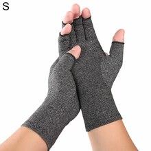 цена на Arthritis Pressure Gloves High Elastic Breathable Cycling Gloves Ash Anti-Edema Half Finger Rehabilitation Riding Gloves S/M/L