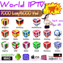 1 year IPTV 7500 live for TV box android box