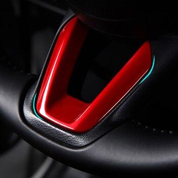 Car Steering Wheel Covers Trim Sticker For Mazda 2 Demio 3 6 CX-3 CX-5 CX5 CX 5 CX8 CX-9 Axela ATENZA 2017 2018 2019 Accessories multi function steering wheel switch audio bluetooth cruise control switch button for mazda 3 atenza axela cx5 cx 4 cx 5