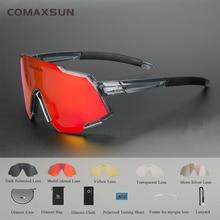 COMAXSUN Polarized Sports Sunglasses with 5 Interchangeable