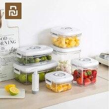Youpin Vakuum Schärfer Vakuum Lagerung Verzögerung Schloss Frische Feuchtigkeit Proof Geschmack Lebensmittel Kontaktieren Material Container Box 6 modelle