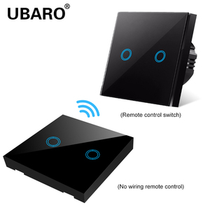 Image 5 - UBARO EU/UK100 240V Wireless Controller Crystal Glass Screen Smart home wall light lamp RF433 Controller Touch switches 2Gang