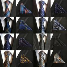 New Fashion Paisley Floral Tie Men's 8cm Silk Necktie Handkerchief Set