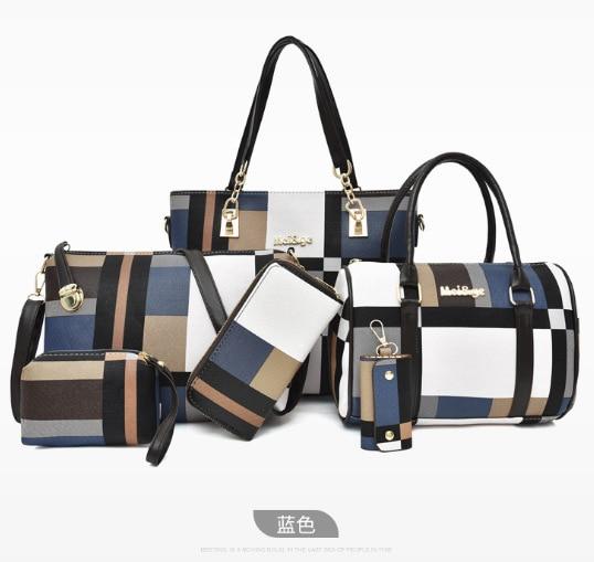 Different Size Bags 2019 New Style Versatile Large-Volume WOMEN'S Bag Six Pieces Set Wallet Shoulder Cross-body Hand Simple WOME