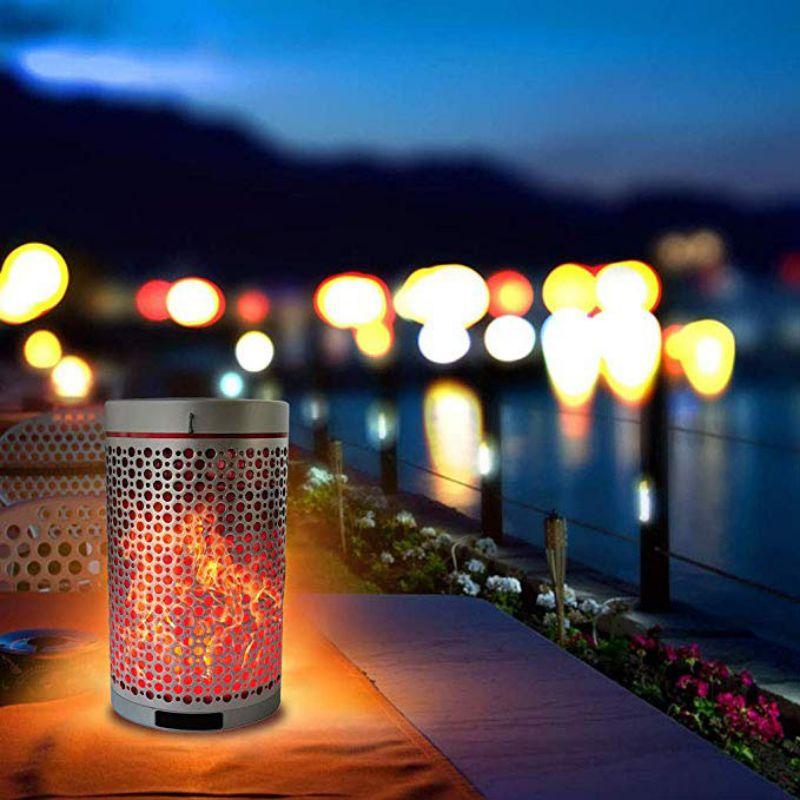 Bluetooth динамик портативный беспроводной динамик с пламенем свет лампы высококачественный Романтический динамик s - 4