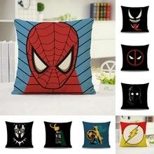 Spiderman Venom Star Wars PillowCase Sofa Cushion Waist Pillow Cover Decorative Cushion Cover for Kids Baby Boys 45x45cm