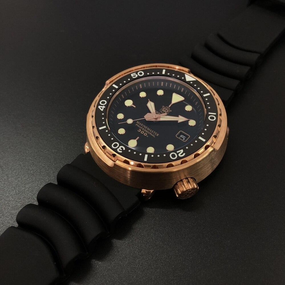 STEELDIVE 1975S Germany Import Tin Bronze 300m Dive Watch Bronze Japan NH35 Auto Mechanical Watches Bronze Tuna Mechanical Watch