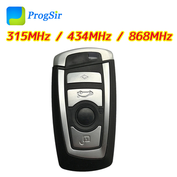 4 Button 315MHz 434MHz 868MHz Remote Control Key for BMW CAS4 With HitaPro ID49 Chip Compatible FEM System