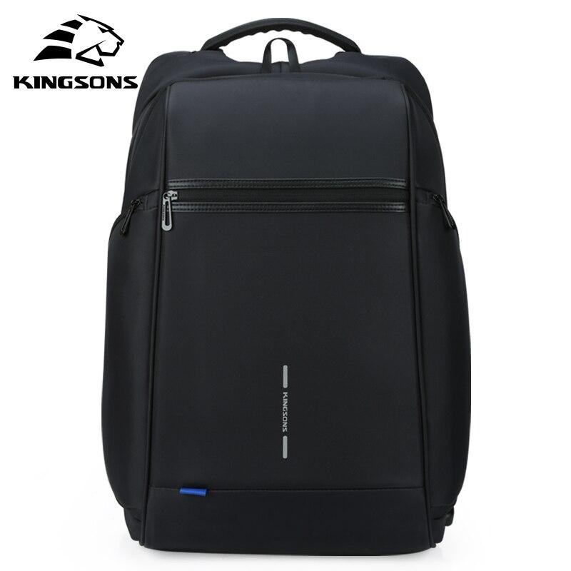 Kingsons 15 17 sac à dos pour ordinateur portable externe USB Charge ordinateur sacs à dos antivol sacs imperméables pour hommes femmes grande capacité - 2