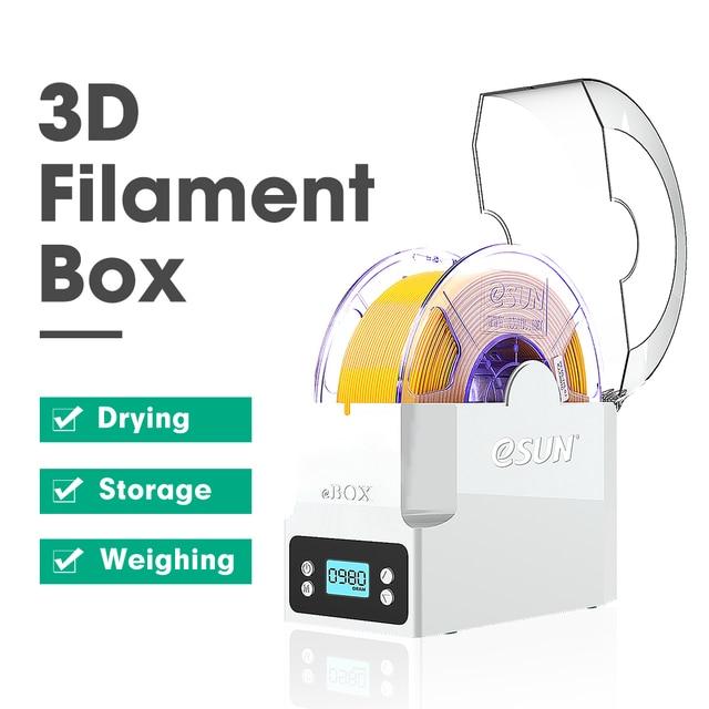ESUN eBOX ثلاثية الأبعاد خيوط مناسبة للطباعة صندوق تخزين خيوط تخزين حامل حفظ خيوط قياس وزن خيوط الجافة للطابعة ثلاثية الأبعاد