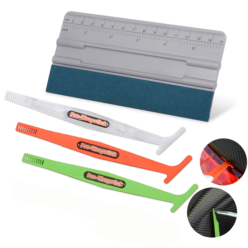 Pro Car Window Tint Squeegee Contour Scraper Auto Vinyl Film Wrapping Tools Kit
