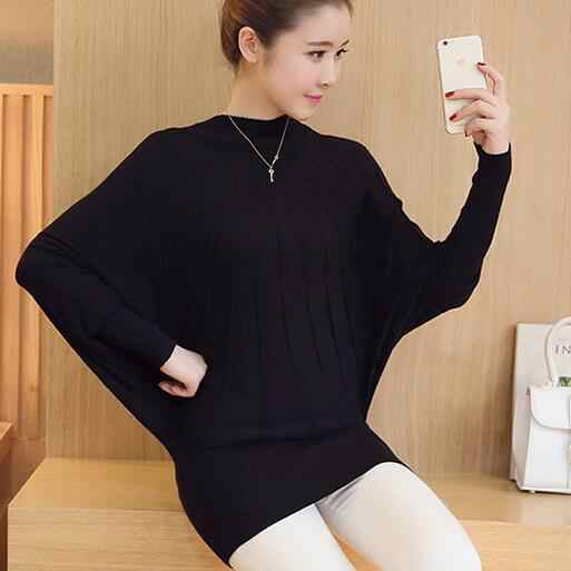 Sweater women clothes 2020 Autumn Winter Women Knitted Sweaters and Pullovers Batwing Sleeve Long Knitwear Femme DF333