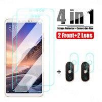 Vetro temperato 4 in 1 per Xiaomi Mi Max 3 2 Mix 2 2S 3 vetro protettivo per Xiaomi Mi A3 A2 Lite A1 pellicola protettiva per vetri