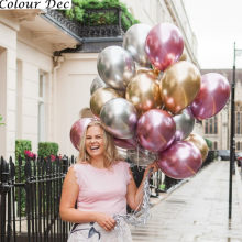 10pcs 12/10inch Chrome Latex Air Helium Balloons Baby Bridal Wedding Birthday Party Metallic Gold Silver Balloon Decor Kids Ball(China)