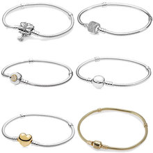 JEM high quality 100% 925 silver Pan bracelet for beautiful lady valentines day gifts DIY beads charm fashion jewelry