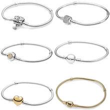 JEM high quality 100% 925 silver Pan bracelet for beautiful lady valentine's day gifts DIY beads charm fashion jewelry цена 2017
