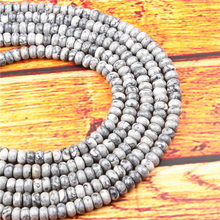 Map Stone Natural Gem 4X6/5X8MM Abacus Bead Spacer Bead Wheel Bead Accessory For Jewelry Making Diy Bracelet Necklace