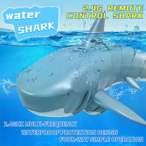 Remote Control Shark 2.4G Electric Simulation RC Fish 20 Minutes Long Battery Life Toy Fish Summer Water Children Toys RC Shark
