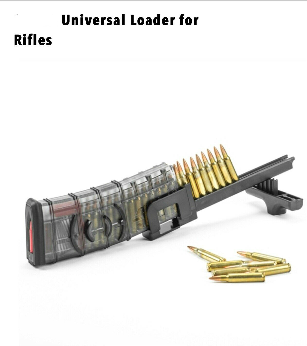 PMAG AK47 AR15 Speed Loader Rifle Magazine Universal .223 5.56 .308 7.62x39 5.45x39 22LR .22 Hunt Gun Ruger Colt