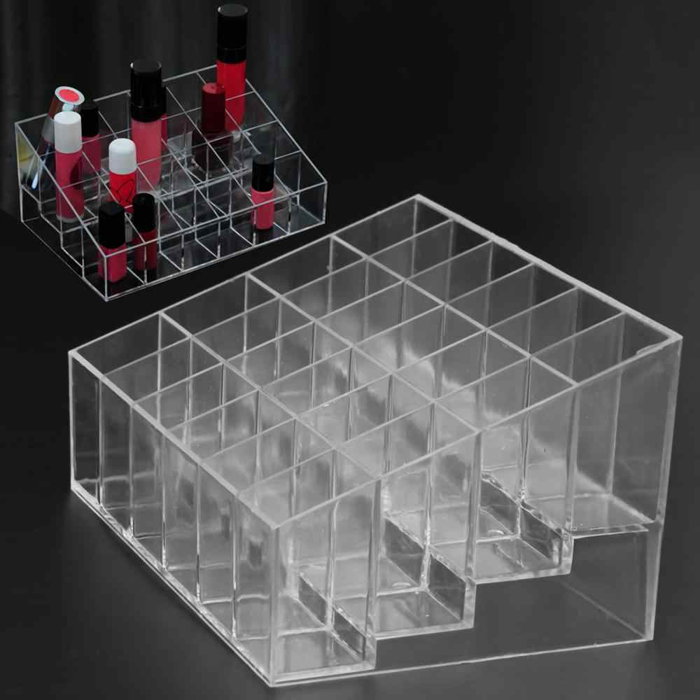 24 Cosmetische Sieraden Organizer Box Lipstick Stand Clear Acryl Make Holder Display Stand Storag Container Case