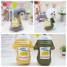 T-Shirt Clothing Pet-Costume Dogs Chihuahua Fashion Summer Print Stripe for Cartoon Ropa