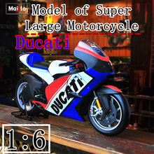 Maisto 1:6 Ducati locomotive model   Diecast Alloy Motorcycle Model Toy For Children Birthday Gift Toys Collection scale 1 18 motorcycle model adult toy simulated alloy locomotive abs decoration with good quality gift