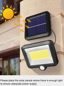 Solar-Lamp Night-Lighting-Support Motion-Sensor Outdoor-Path Waterproof Cob 100led