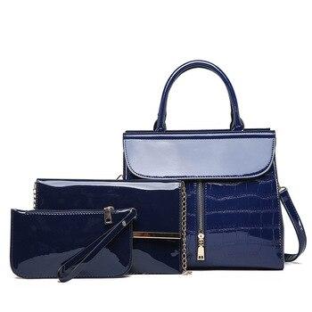 New Fashion Leisure Shoulder Messenger Bag Three-Piece zi mu bao