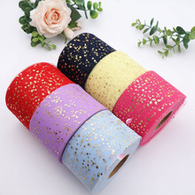 6cm Glitter Tulle Ribbon Sparkly Color Mesh Roll DIY Headband Clips Pom Crafts Personalized made Party Decoration Supplies
