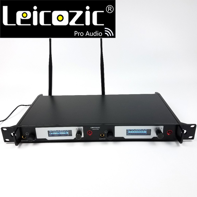 جهاز إرسال Leicozic لنظام مراقبة الأذن L9400 نظام مراقبة لاسلكي شخصي في نظام مراقبة الأذن جهاز إرسال مزدوج