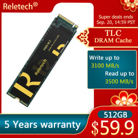 Reletech ssd m2 nvme PCIe PHISON Controller 256GB 500GB Solid State Drive DRAM Cache M.2 2280 Interne Festplatte disk Laptop Desktop