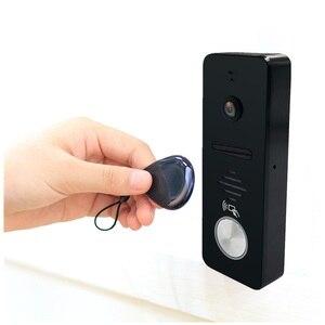Image 5 - Dragonsview 7 Inch Chuông Cửa Camera Chuông Cửa Hệ Thống Video RFID Cửa Truy Cập Hệ Thống Điều Khiển Mở Khóa Kỷ Lục Góc Rộng 130 Độ