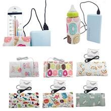 14 Colors Hot Travel Stroller Bag USB Milk Water Warmer Insulated Bag Baby Nursing Bottle Heater 28.0cm*13cm Drop Shipping