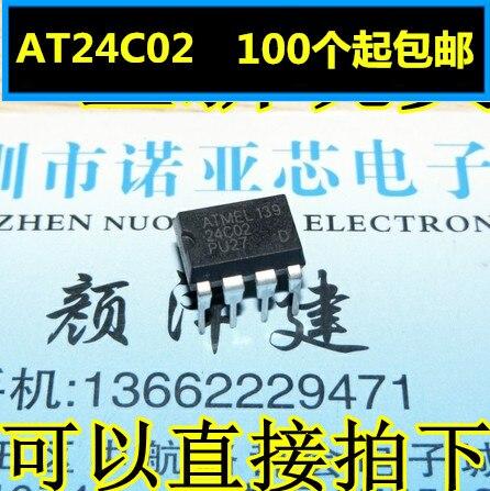 10pcs/lot New AT24C02 24C02N 24C02BN 24C02 Memory Serial EEPROM DIP8