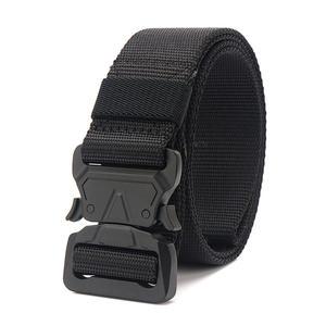 Trousers Belts Buckle Long-Waist-Belt Canvas Quick-Release Black Designer Tactical Fashion