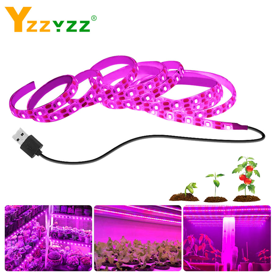 Hand Sweep Sensor USB LED Grow Light Full Spectrum 2835SMD Touch Sensor LED Phyto Lamp For Plants Tobaccos Greenhouse Hydroponic