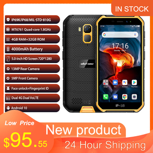 Ulefone Armor X7 Pro NFC Android 10 IP69K IP68 shockproof mobile phones 4GB 32GB GPS cell phone 4000mAh 4G Rugged Smartphone