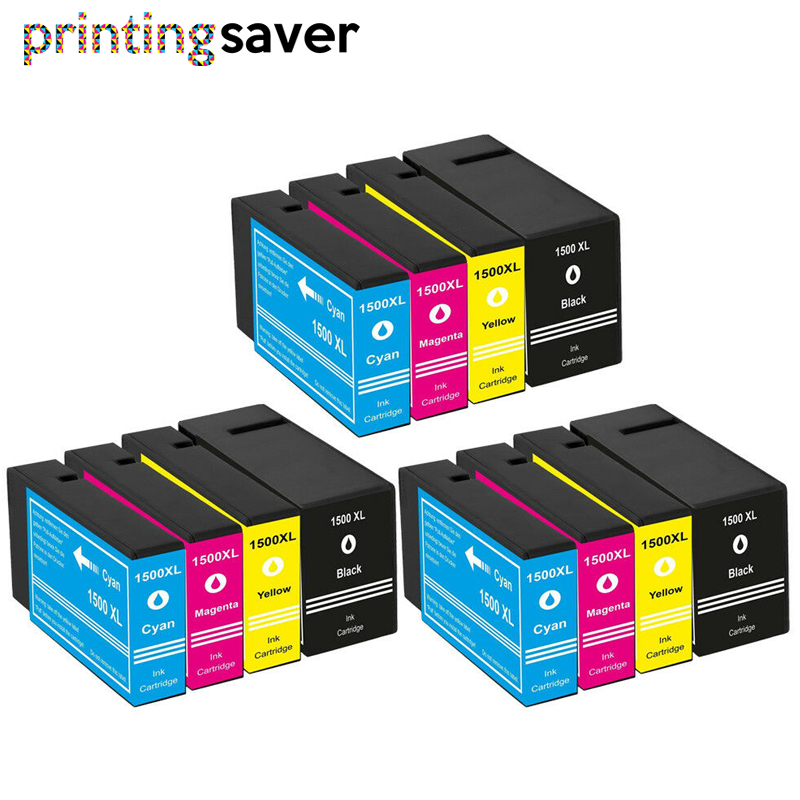 12pcs Pgi1500 Pgi 1500xl 1500 Compatible Ink Cartridge For CANON MAXIFY MB-2050 2150 2300 2350 2355 2750 2000 2755 Printer