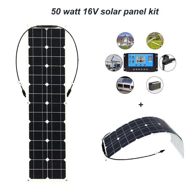 Boguang 50w solar panel with 12v 10A controller MC4 connector module Monocrystalline silicon cell solar panels