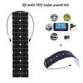 Boguang 50 Вт солнечная панель с 12 В 10 А контроллером pv разъем модуль монокристаллическая Кремниевая ячейка солнечные панели батареи DIY kit