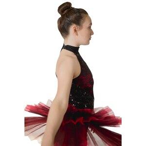 Image 4 - 소매 도매 여성 그릴 라틴 재즈 발레 레오타드 투투 스팽글 나일론/라이크라 레이스 댄스웨어