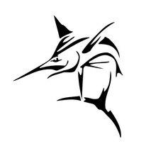 12,6*14 см Племенной соленая рыба Бампер Декоративные Настенные модные детские носки с креативными мультяшными автомобиля стикер черный/Сере...
