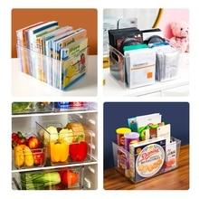 Plastic Food Storage Container with Side Handle Refrigerator Storage Basket