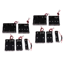 10x Plastic Battery Holder Box Storage Case Set with Wire for AA battery