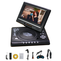 7.8'' 9.8'' Hot Sales HD Swivel Screen Car DVD Player Portable DVD Players FM Analog TV VCD CD Games with Card Reader USB